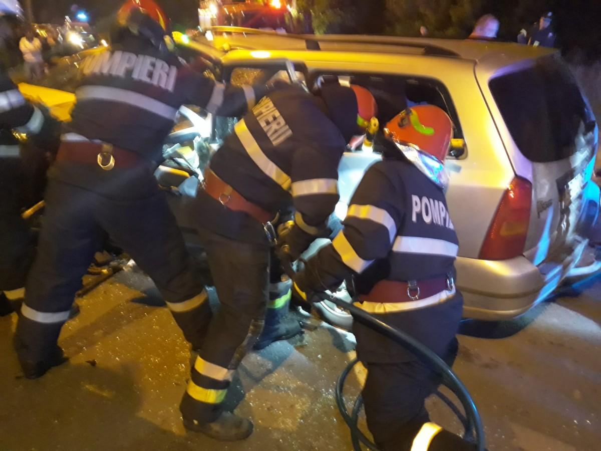 Accident grav la Mediaș. Bărbatul rănit a decedat