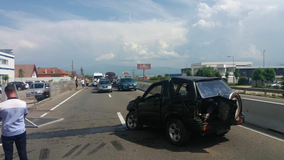 ACTUALIZARE Accident grav la intrarea în Sibiu