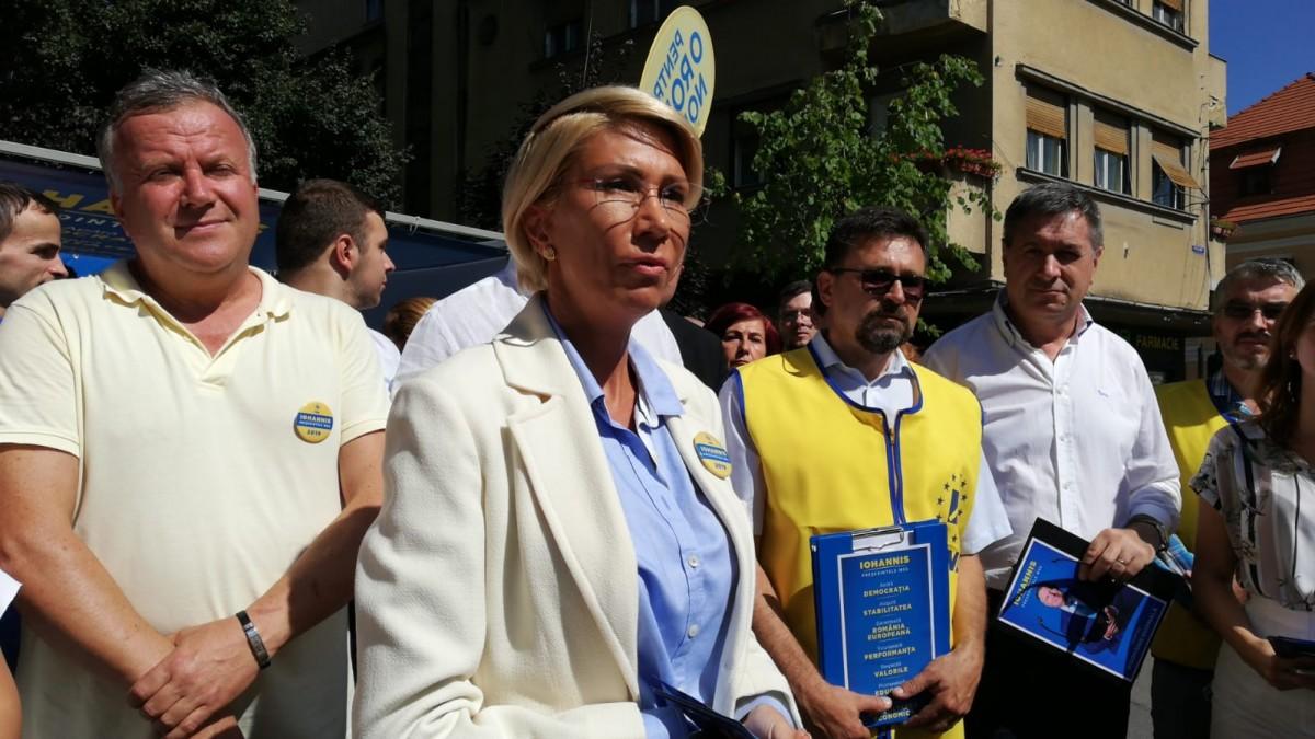 """Raluca Turcan: """"Ne-am propus să strângem peste 35.000 de semnături pentru Iohannis"""""""