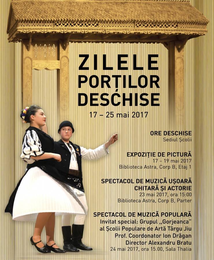 """Școala Populară de Arte și Meserii """"Ilie Micu"""" își deschide porțile publicului larg"""