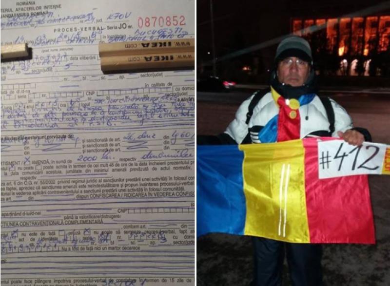 Protestatar surdo-mut amendat de Jandamerie pentru că ar fi scandat împotriva PSD