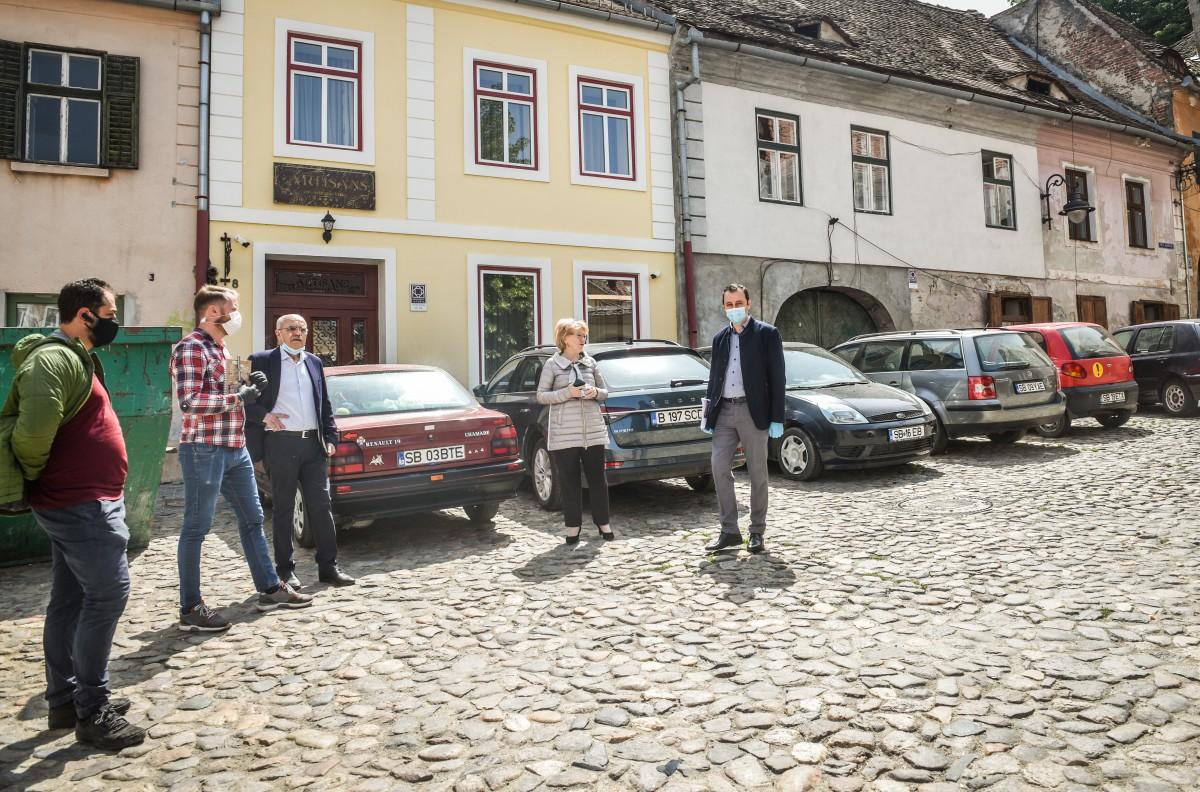 VIDEO Ce a determinat extinderea zonei pietonale din centrul Sibiului? Criza adusă de SARS-CoV-2