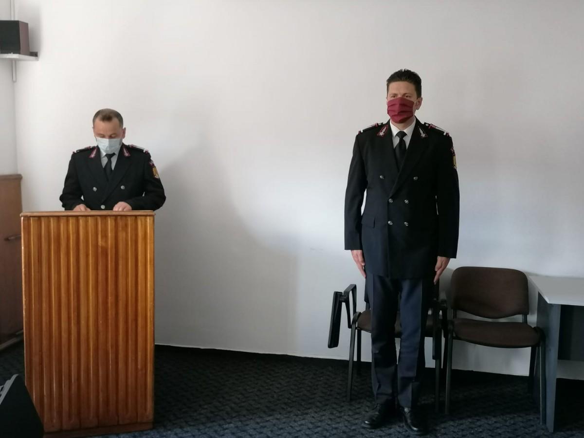Ofițerul ISU Sibiu trimis într-o misiune medicală în Italia a fost înaintat în grad