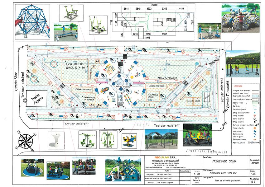 Parcul din Piața Cluj va fi complet reconfigurat și modernizat