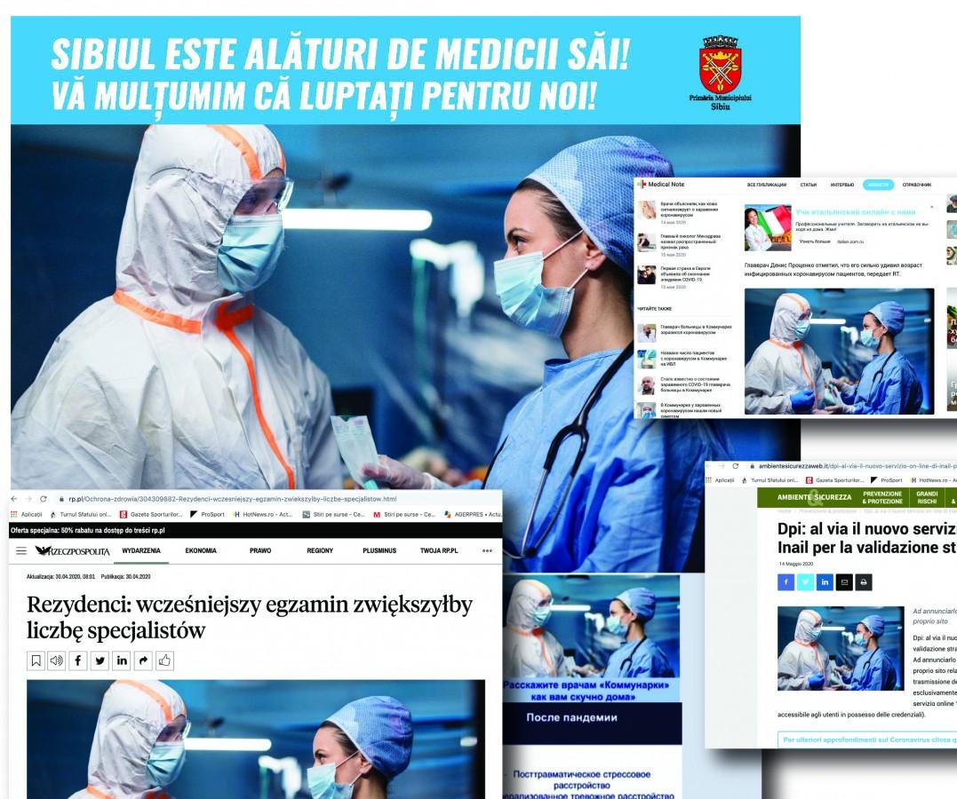 Primăriafolosește medici slovaci în campania prin care le mulțumește doctorilor sibieni