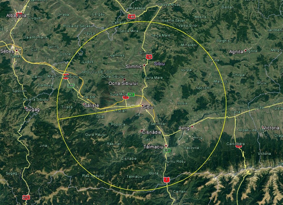 Sibiul are Zonă Metropolitană. Sibienii din 23 de localități se pot deplasa fără adeverințe