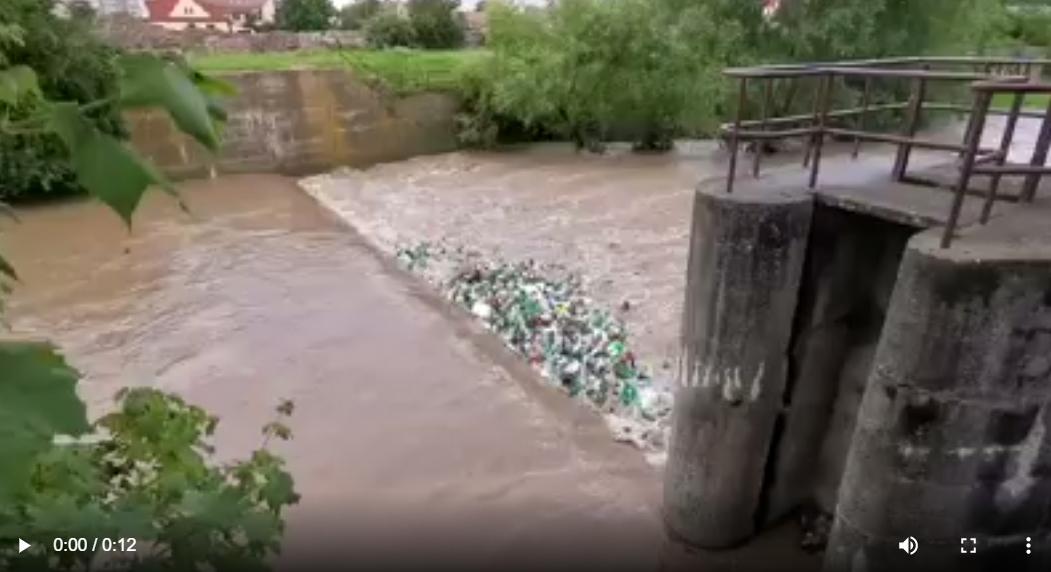 """VIDEO – """"Rușine Sibiu!"""". Ce aduce Cibinul în urma ploilor"""