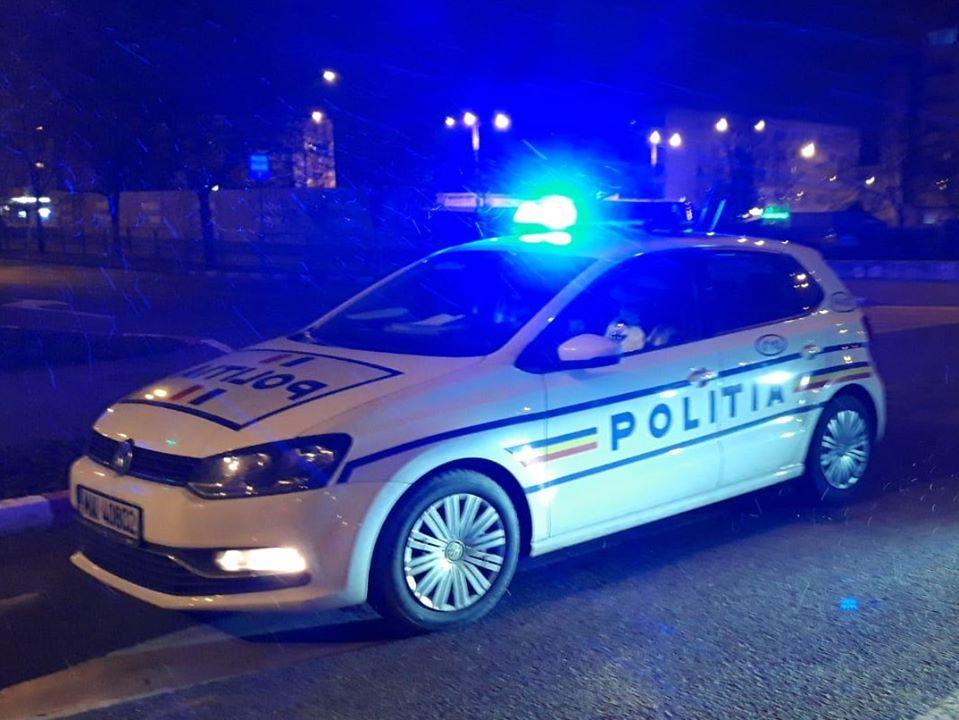 Tânăr prins noaptea băut la volan, la plimbare prin Sibiu