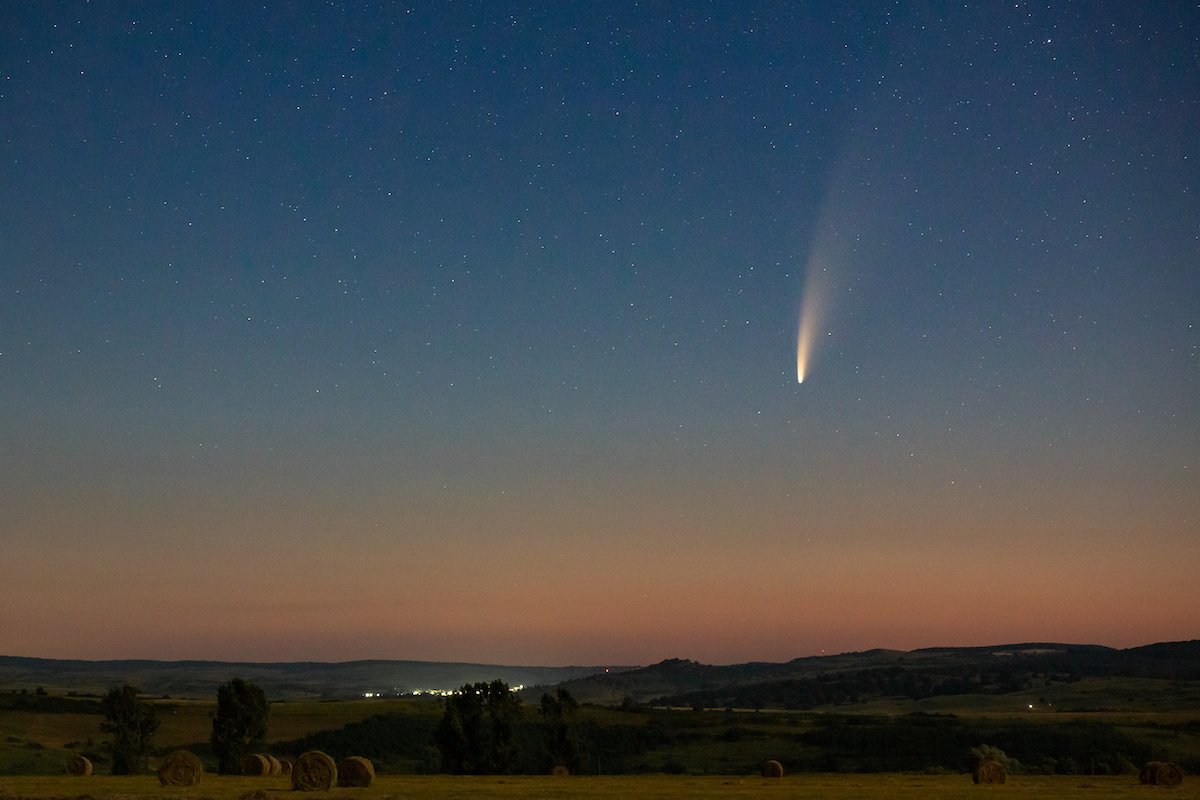 """FOTO Cometa Neowise a fost fotografiată din Sibiu. """"Devine din ce în ce mai spectaculoasă"""""""
