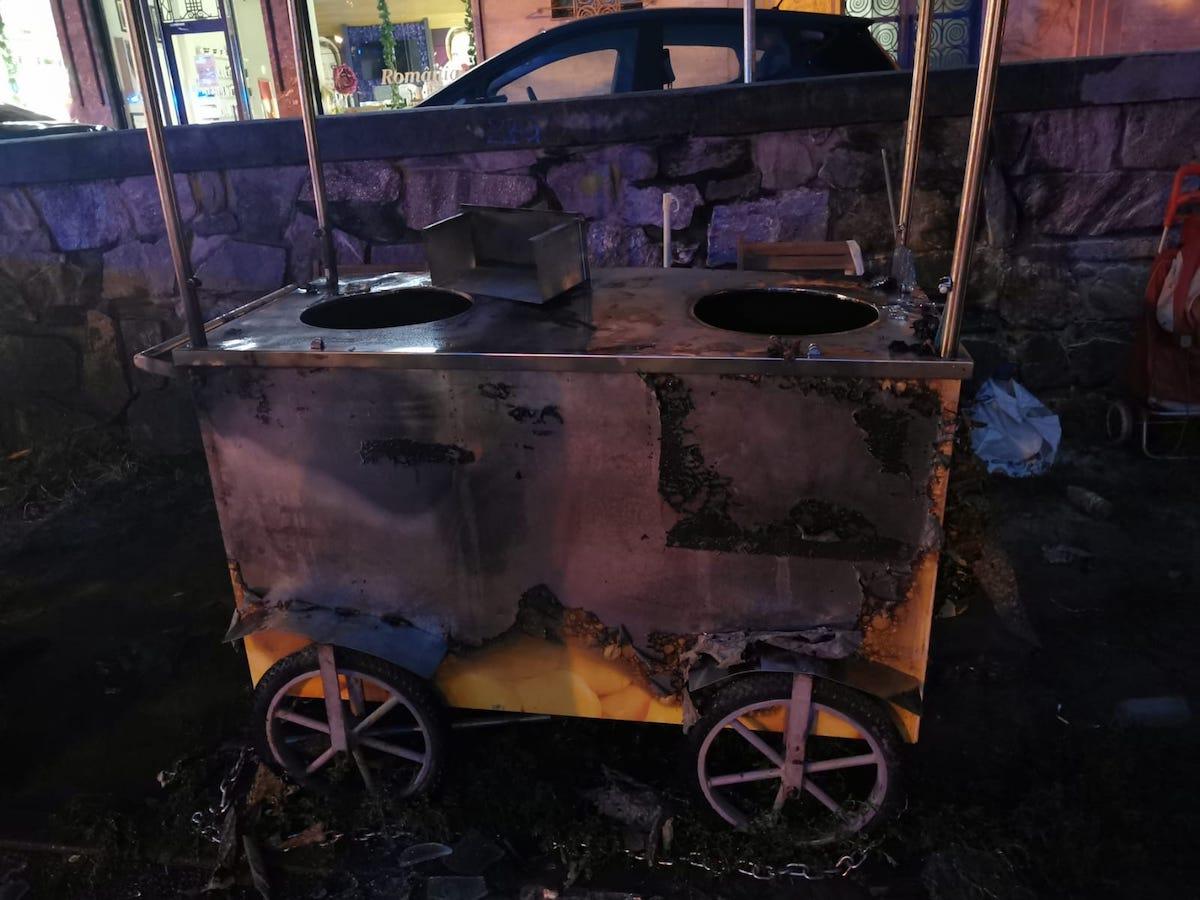 Butelia unui vânzător de porumb fiert a explodat în centrul Sibiului