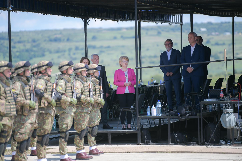 Primarul Astrid Fodor a participat la ceremonia organizată cu ocazia înființării Comandamentului Corpului Multinațional Sud-Est