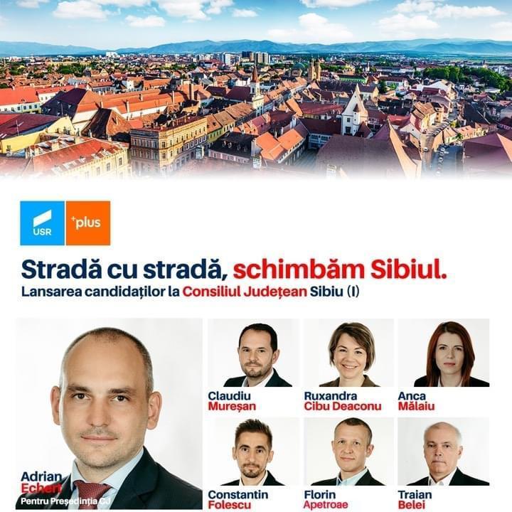 Adrian Echert pentru președinția CJ și echipa Alianței USR PLUS pentru județul Sibiu