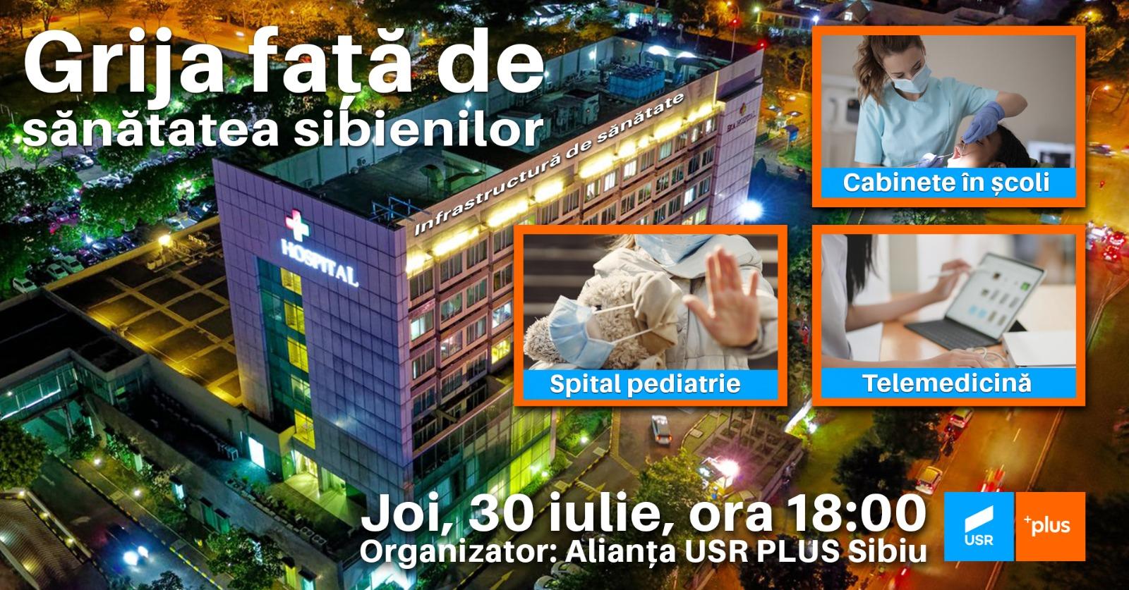 Alianța USR PLUS Sibiu a dezbătut online cu specialiști prioritățile pentru sănătate și infrastructura serviciilor de sănătate