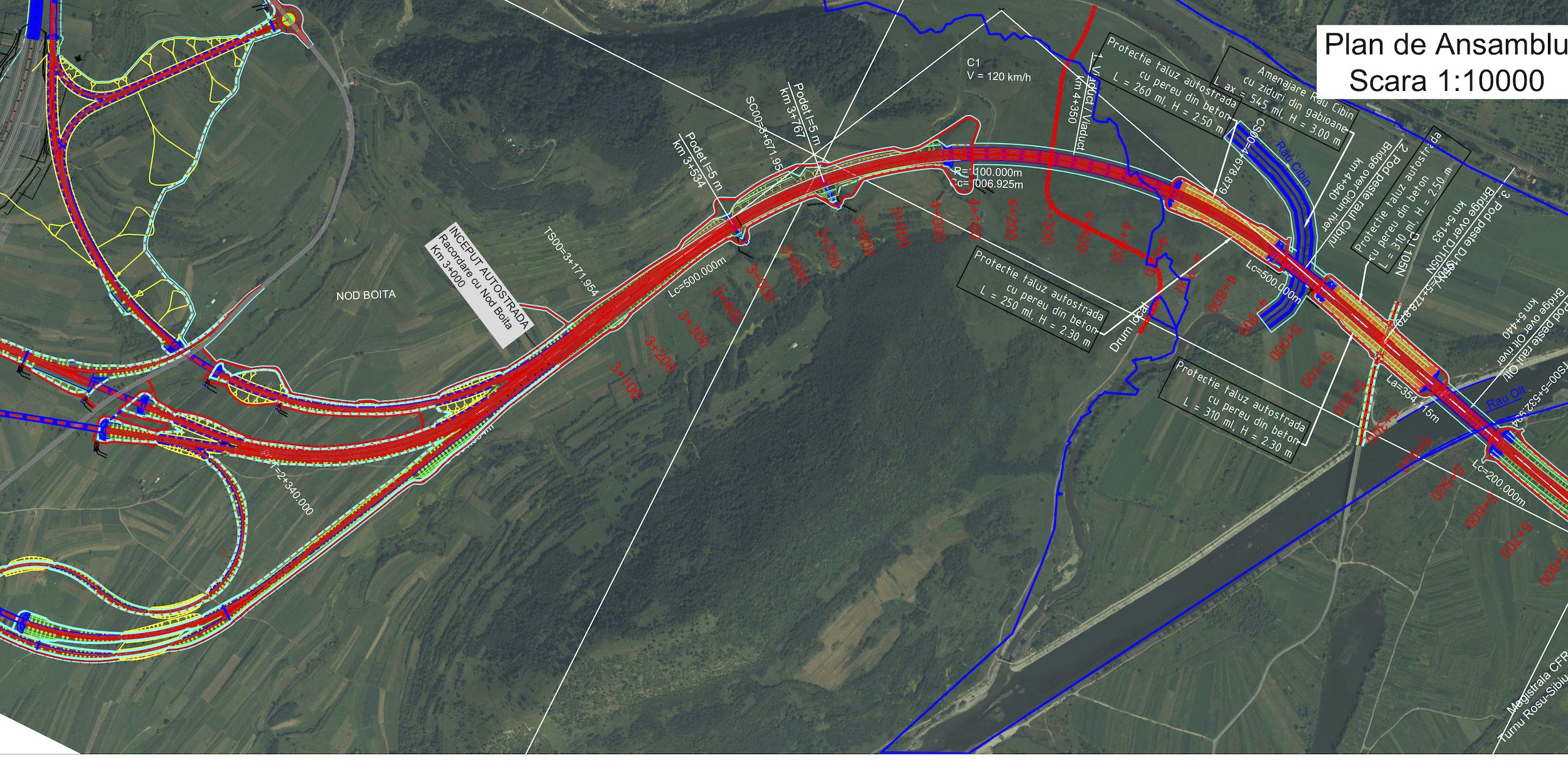 A treia autostradă a Sibiului are indicativul 13: încă 38,3 km, împărțiți în două loturi