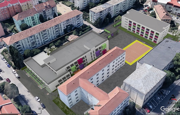 Primăria Sibiu organizează o nouă procedură de achiziție pentru continuarea lucrărilor de construcție a noului Liceu de Arte