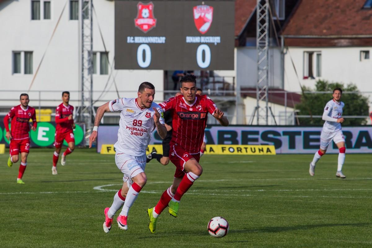Hermannstadt, cotată după Viitorul și FC Botoșani la șansele la titlu