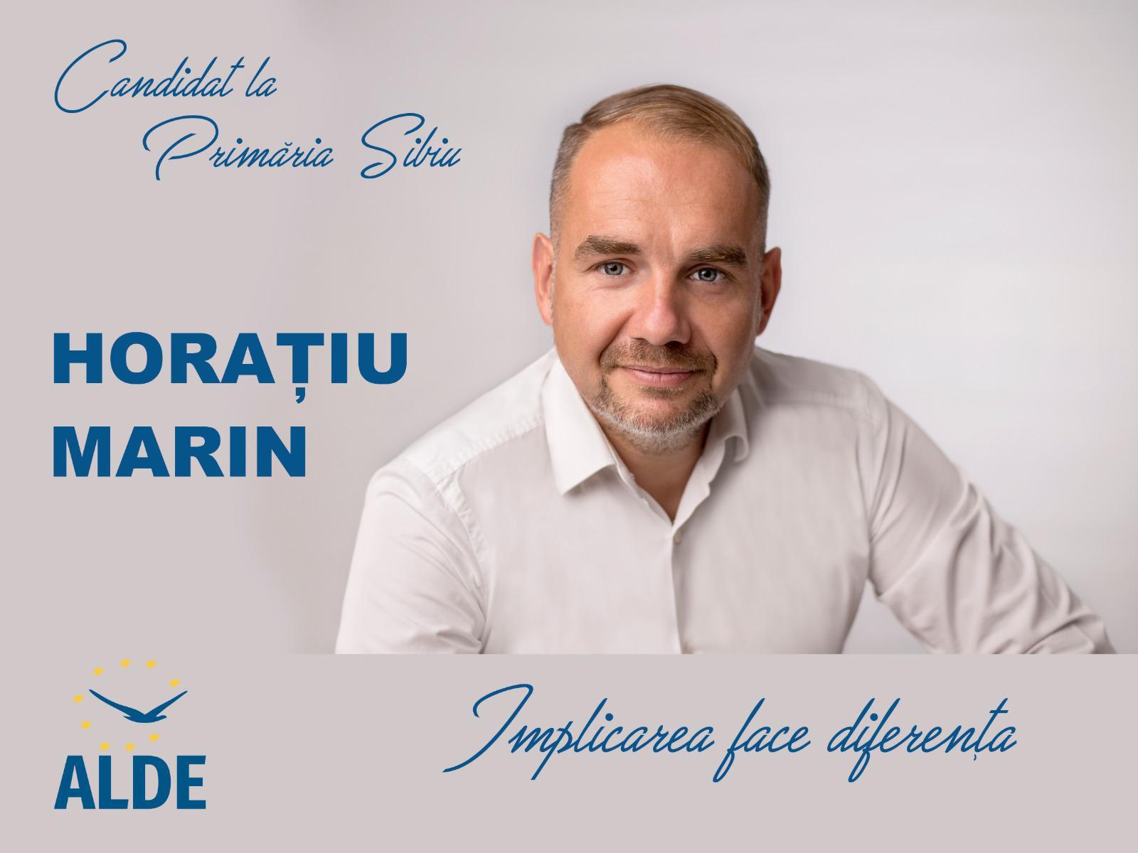 """Horaţiu Marin, candidat ALDE la Primăria Sibiu: """"Susţin oamenii care muncesc în industria HoReCa. Ei sunt foarte importanţi pentru Sibiu"""""""