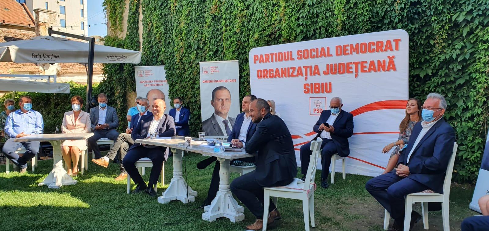 PSD și-a prezentat candidații la alegerile locale și principalele proiecte pentru Sibiu