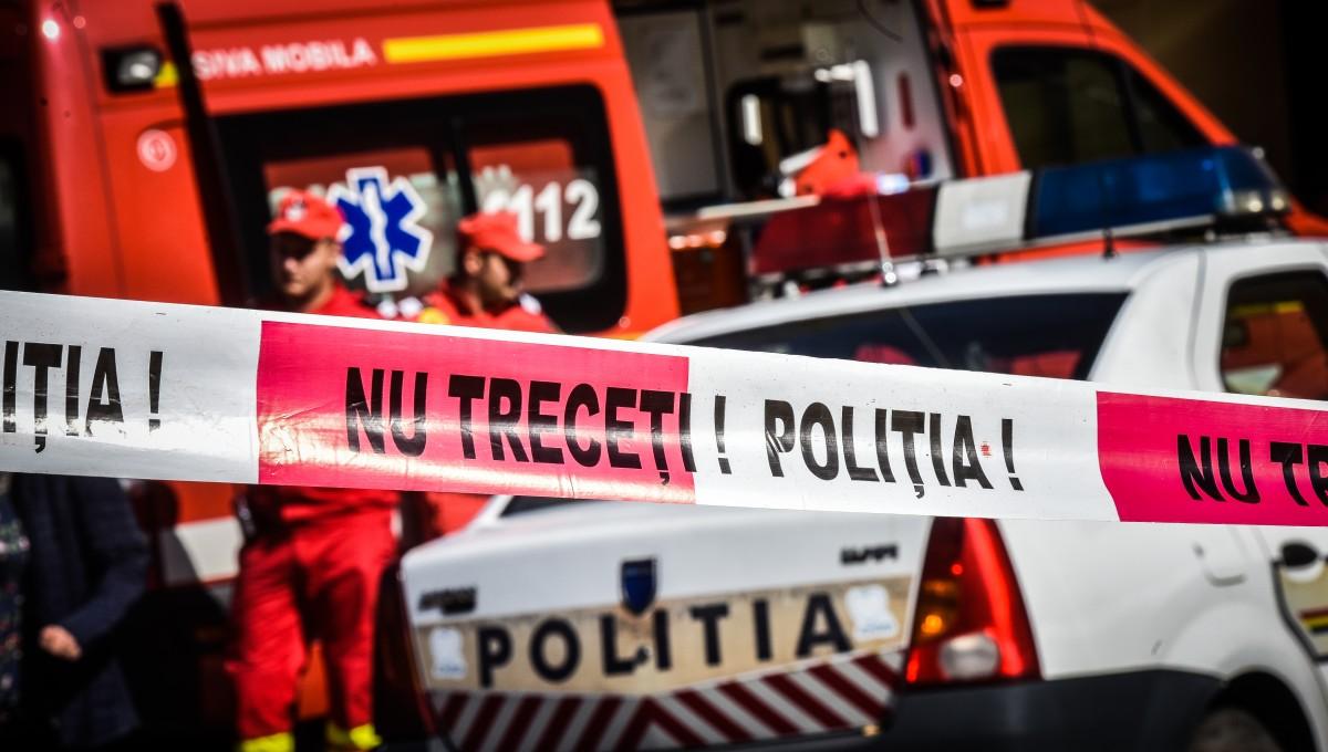 Mașină răsturnată pe DN1, spre Apoldu. O femeie a fost rănită