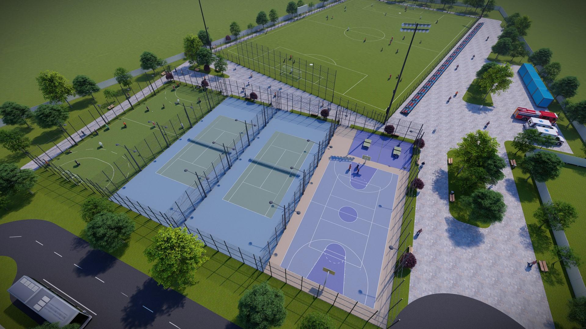Complex de terenuri de sport lângă Piața Obor