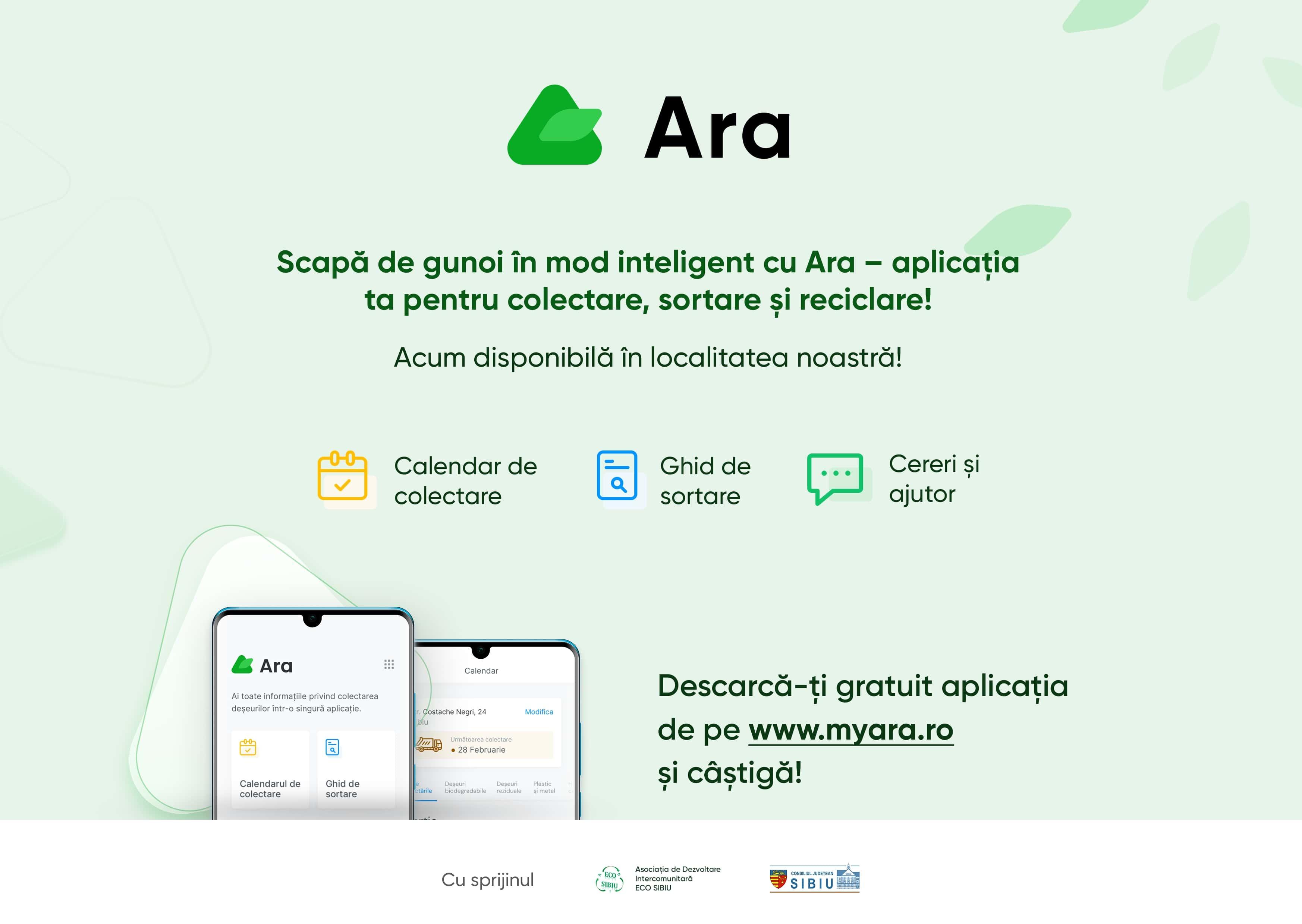 La Sibiu, colectarea deșeurilor devine mai simplă prin intermediul Aplicației Ara