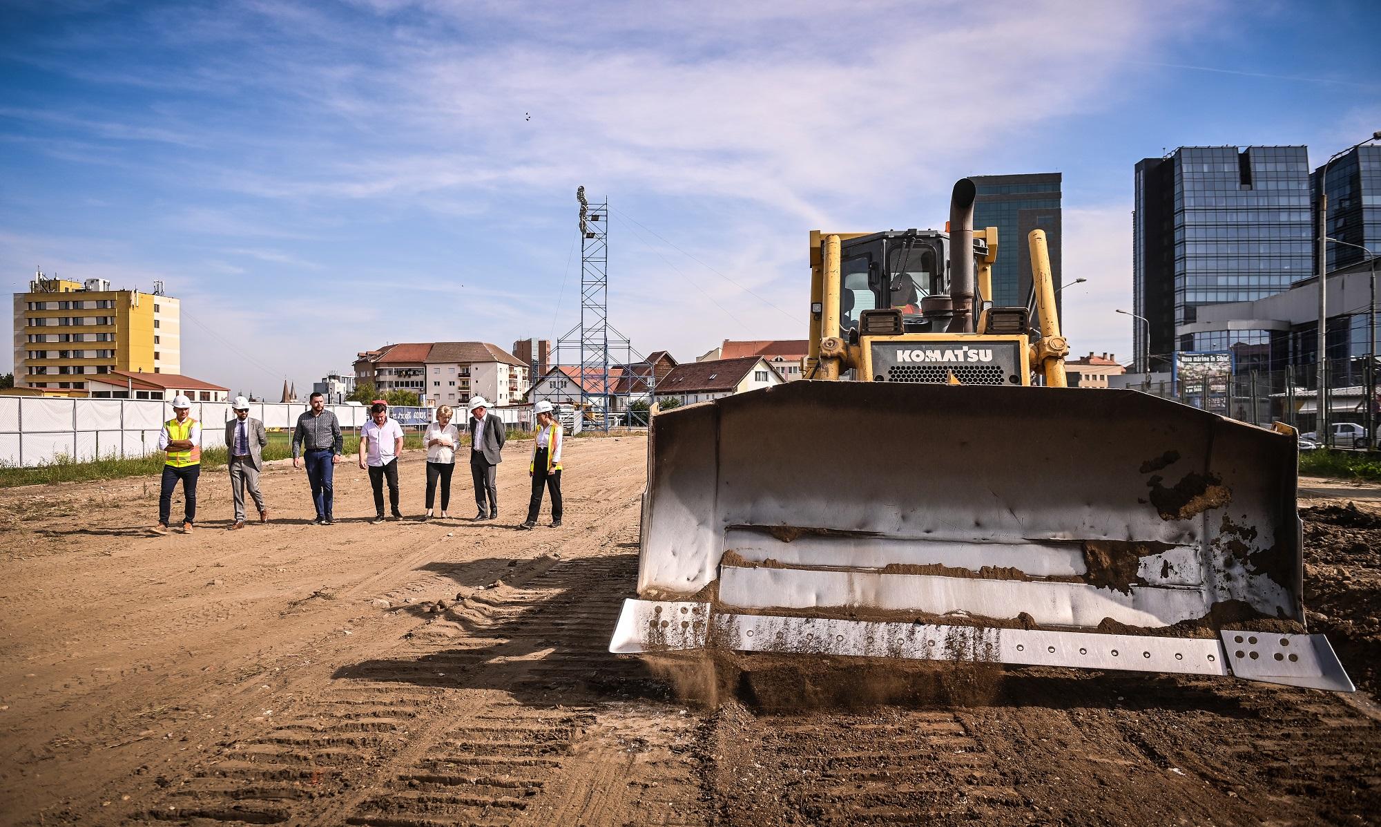 Primăria Sibiu: au început lucrările efective la Stadionul Municipal