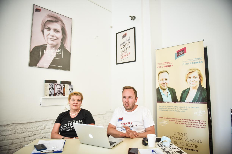 """Elena Lotrean și Radu Szekely, independenții care candidează pentru Educație: """"Vom demonstra că merită"""""""
