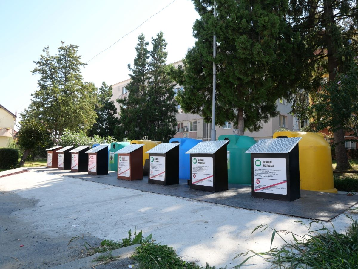 Containere subterane în Cisnădie. Prima investiție de acest gen din județul Sibiu