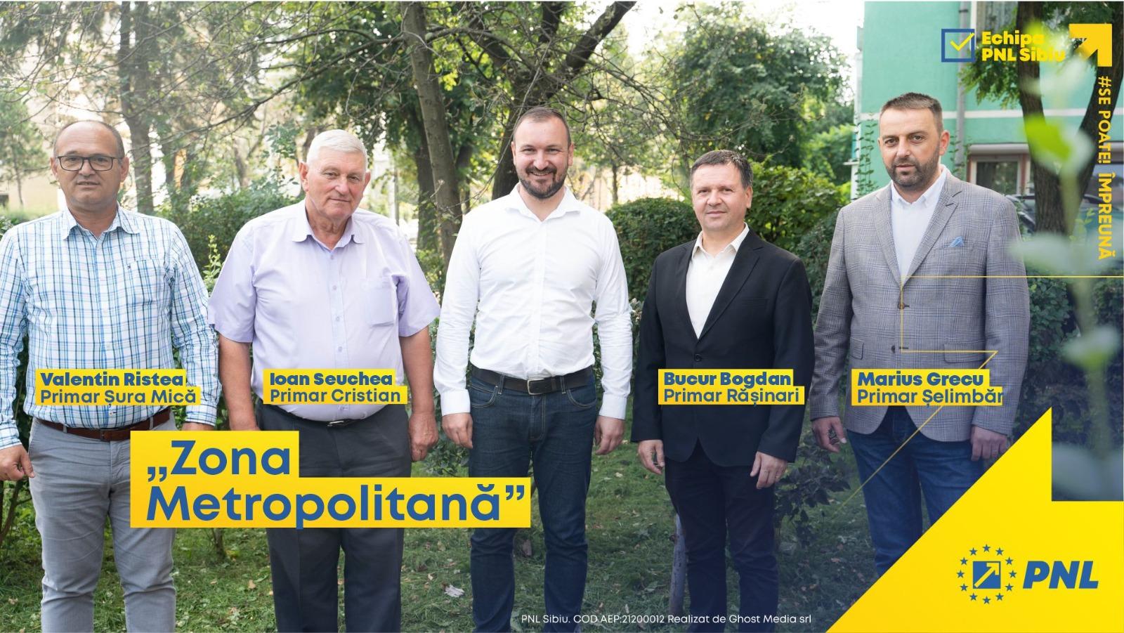 PNL: Adrian Bibu și primarii din jurul Sibiului susțin înființarea Zonei Metropolitane