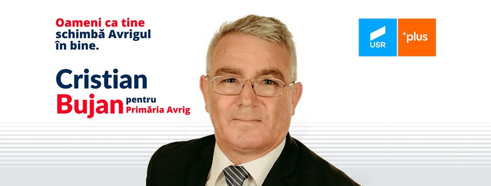 """Cristian Bujan, candidat USR PLUS pentru Primăria Avrig: """"Continui să lupt pentru decență și respectul autorităților față de cetățenii care i-au ales"""""""
