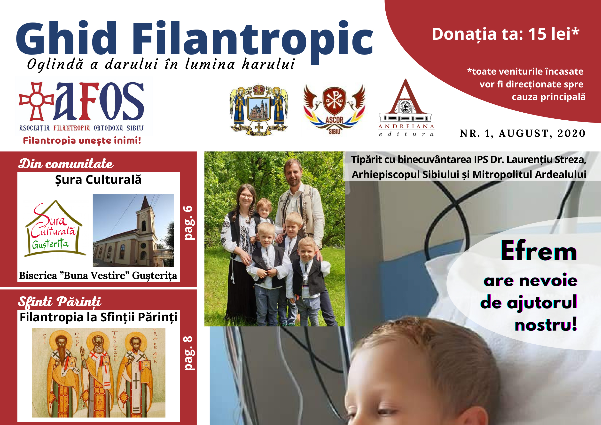 """""""Ghid Filantropic"""", revista tinerilor inimoși. Ultimul proiect AFOS"""