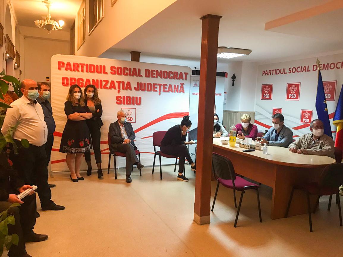 """Primele reacții din sediul PSD Sibiu: """"nu ne putem raporta la trendul din țară"""""""