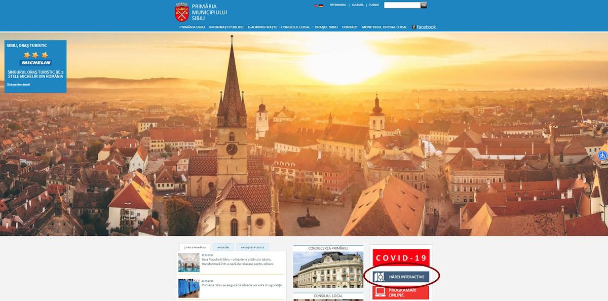 Primăria Sibiu: Două hărți interactive utile, disponibile pe www.sibiu.ro