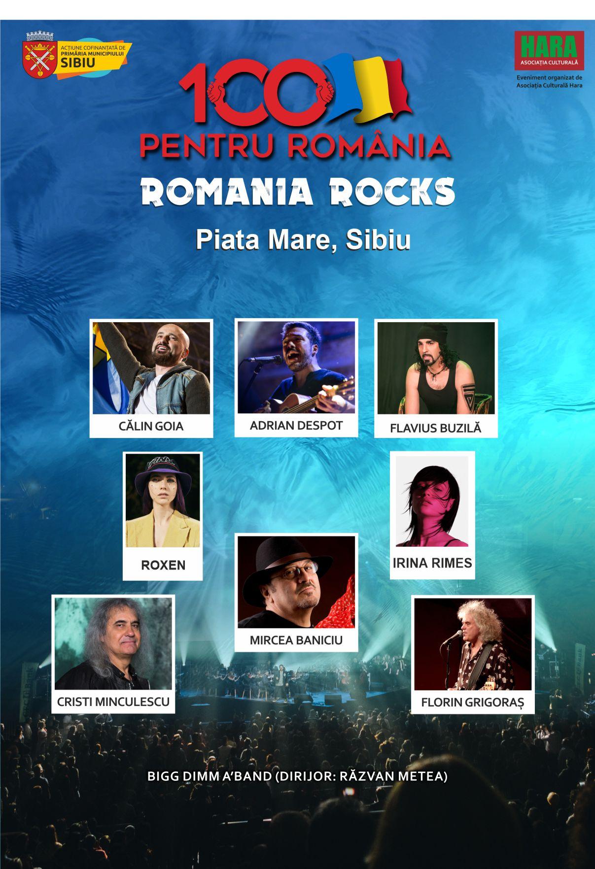 România Rocks, 100 de minute de muzică pentru suflet, 09 septembrie în Piața Mare din Sibiu