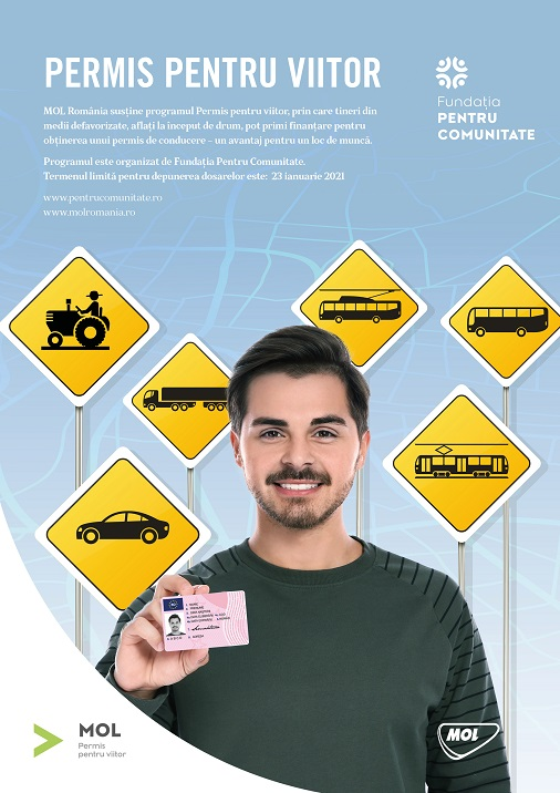 Permise de șoferi gratuite pentru tinerii din medii defavorizate. Înscrierile se fac până în 23 ianuarie