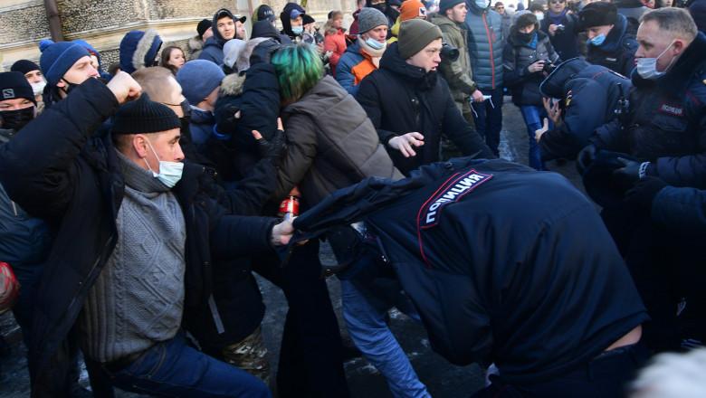 Demonstrații în Rusia după arestarea lui Alexei Navalnîi