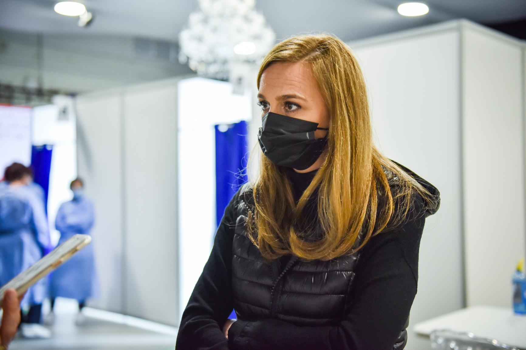 """FOTO Dr. Cristina Chelcea, coordonator centru Redal Expo, la aproape două săptămâni de la debutul fazei a II-a: """"Am avut 120 de persoane vaccinate pe zi"""""""