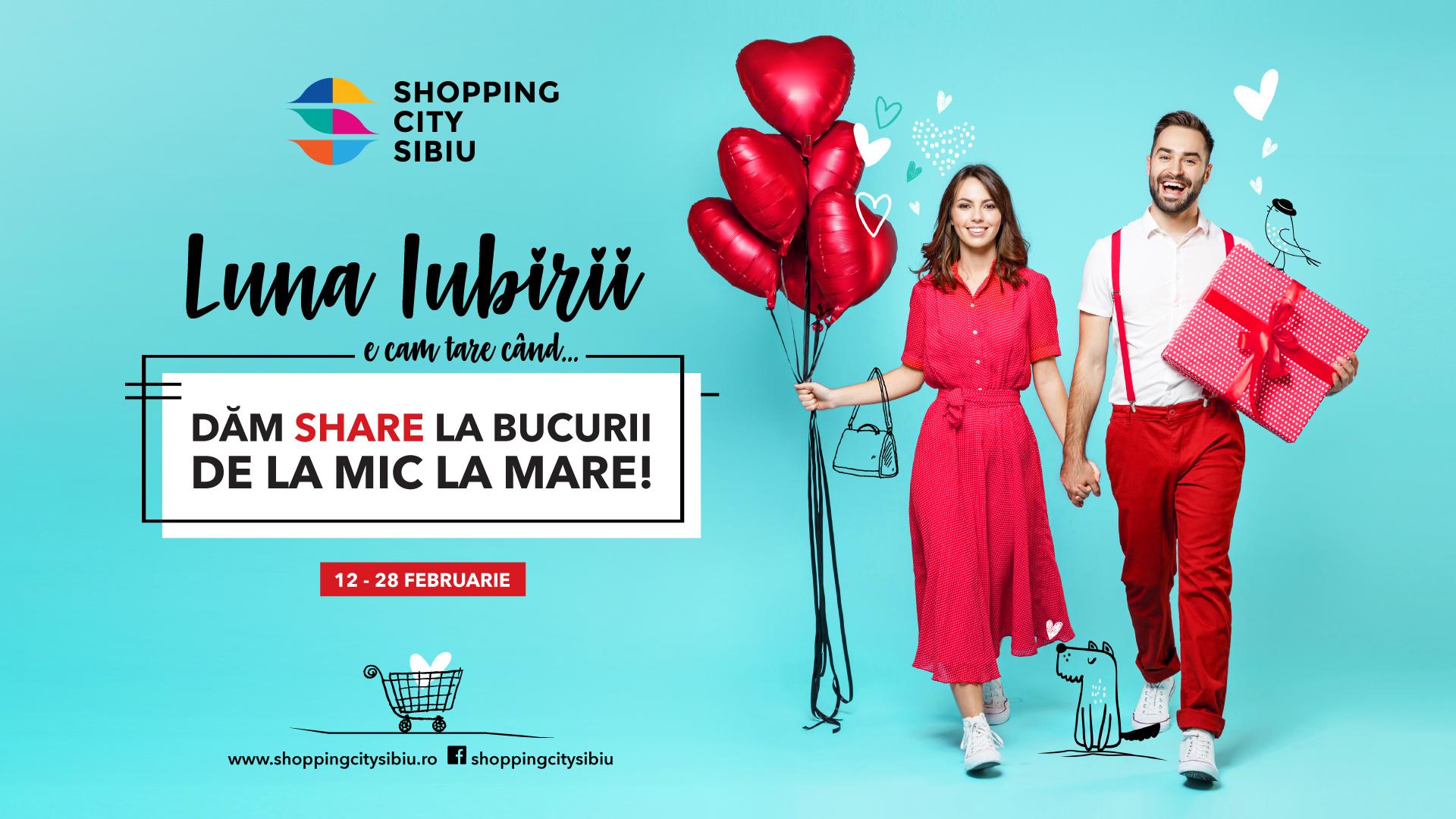 Shopping City Sibiu vine în ajutorul îndrăgostiților cu reduceri și idei de cadouri în Luna Iubirii