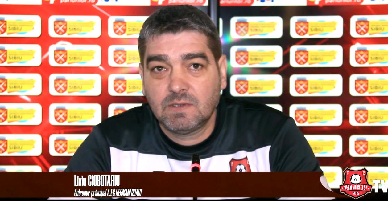 Liviu Ciobotariu, antrenor FC Hermannstadt: sper să repetăm la Craiova evoluţia bună cu FCSB
