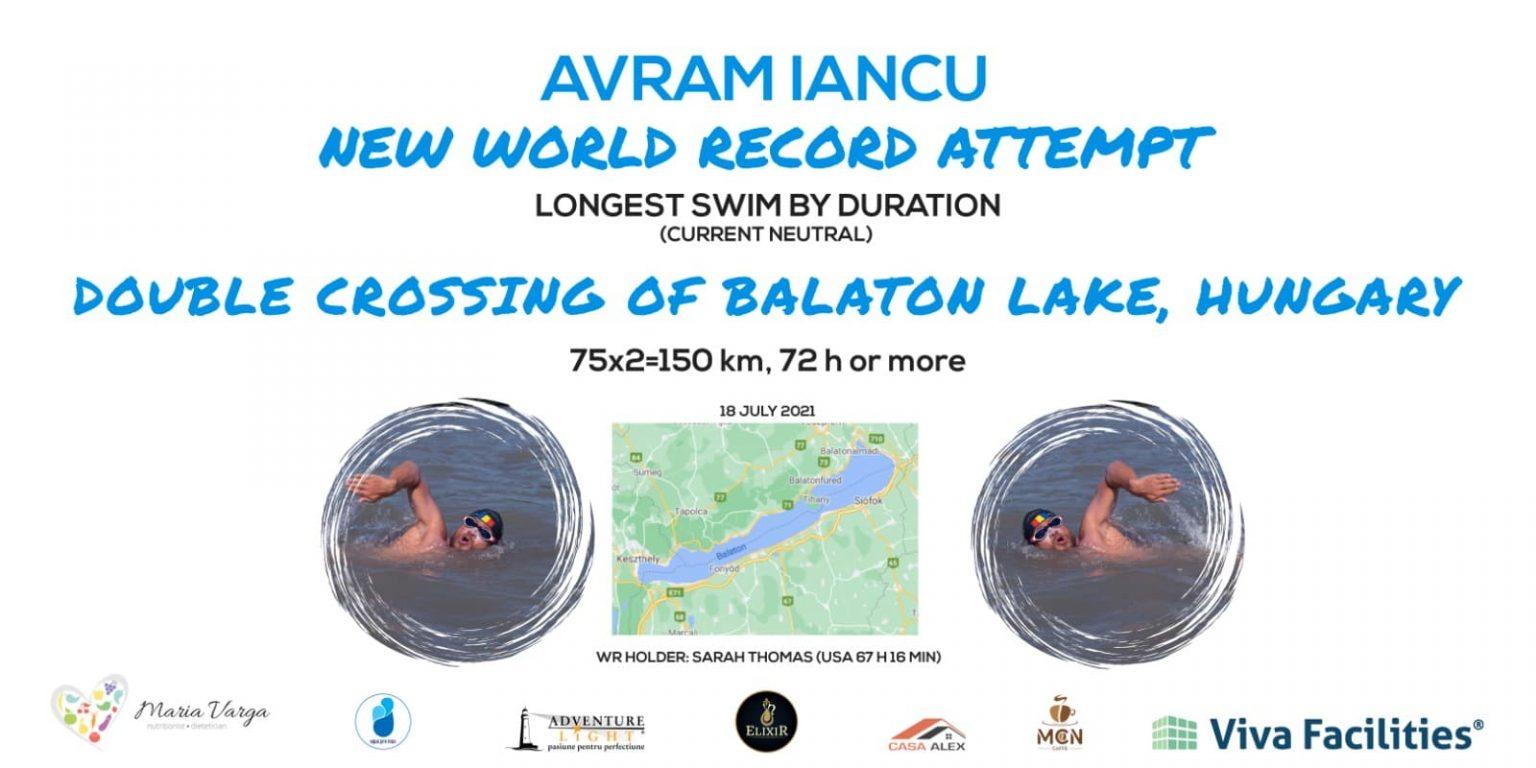 Avram Iancu, bibliotecarul din Petroșani, va înota continuu trei zile şi trei nopţi pentru un nou record mondial