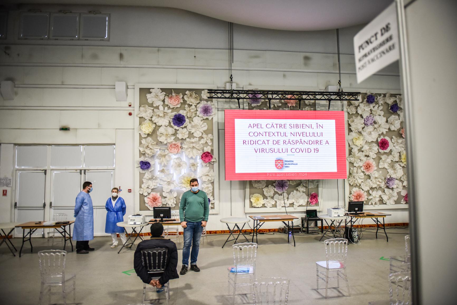 Peste 800 de sibieni s-au vaccinat în ultimele 24 de ore