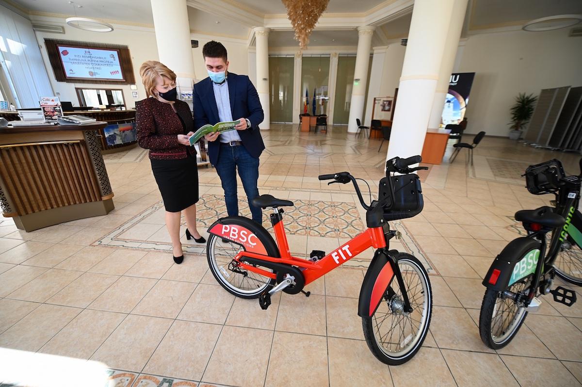 Sibiu Bike City: Primăria Sibiu începe amenajarea a 44 de centre publice pentru închirieri de biciclete