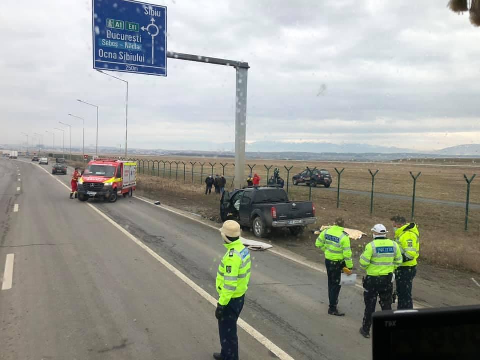 Accident mortal la intrarea în Sibiu dinspre Cristian. Șoferul avea 32 de ani