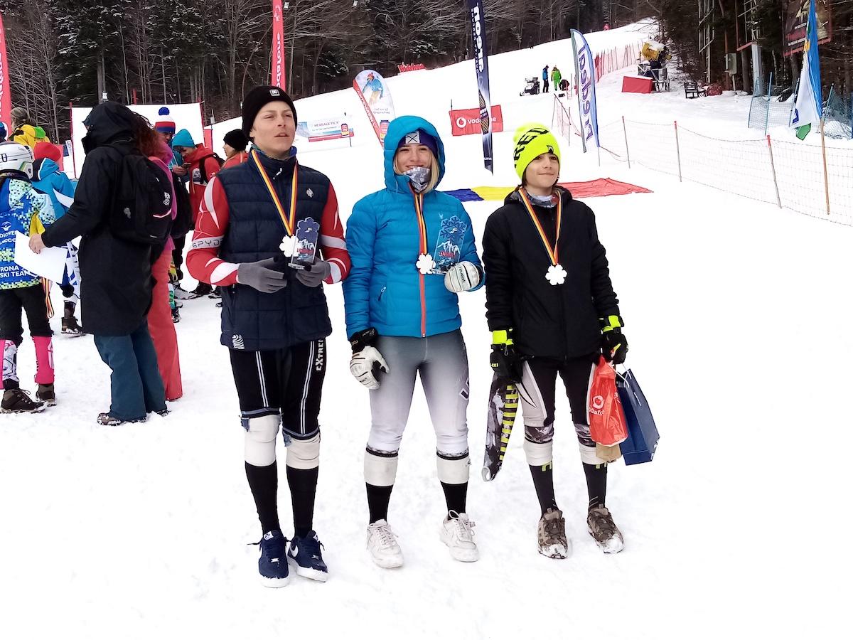 Trei elevi sibieni, campioni și vicecampioni la Campionatul Național de Schi Alpin