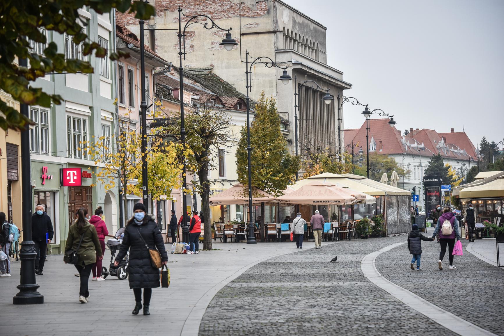 3,50 - incidența, sâmbătă, în municipiul Sibiu. Rata de infectare în județ a crescut față de ieri