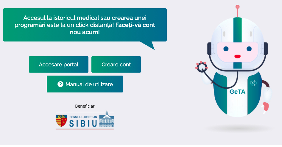 Premieră. Sibienii își găsesc toate documentele medicale pe un singur site: portalmedical.cjsibiu.ro