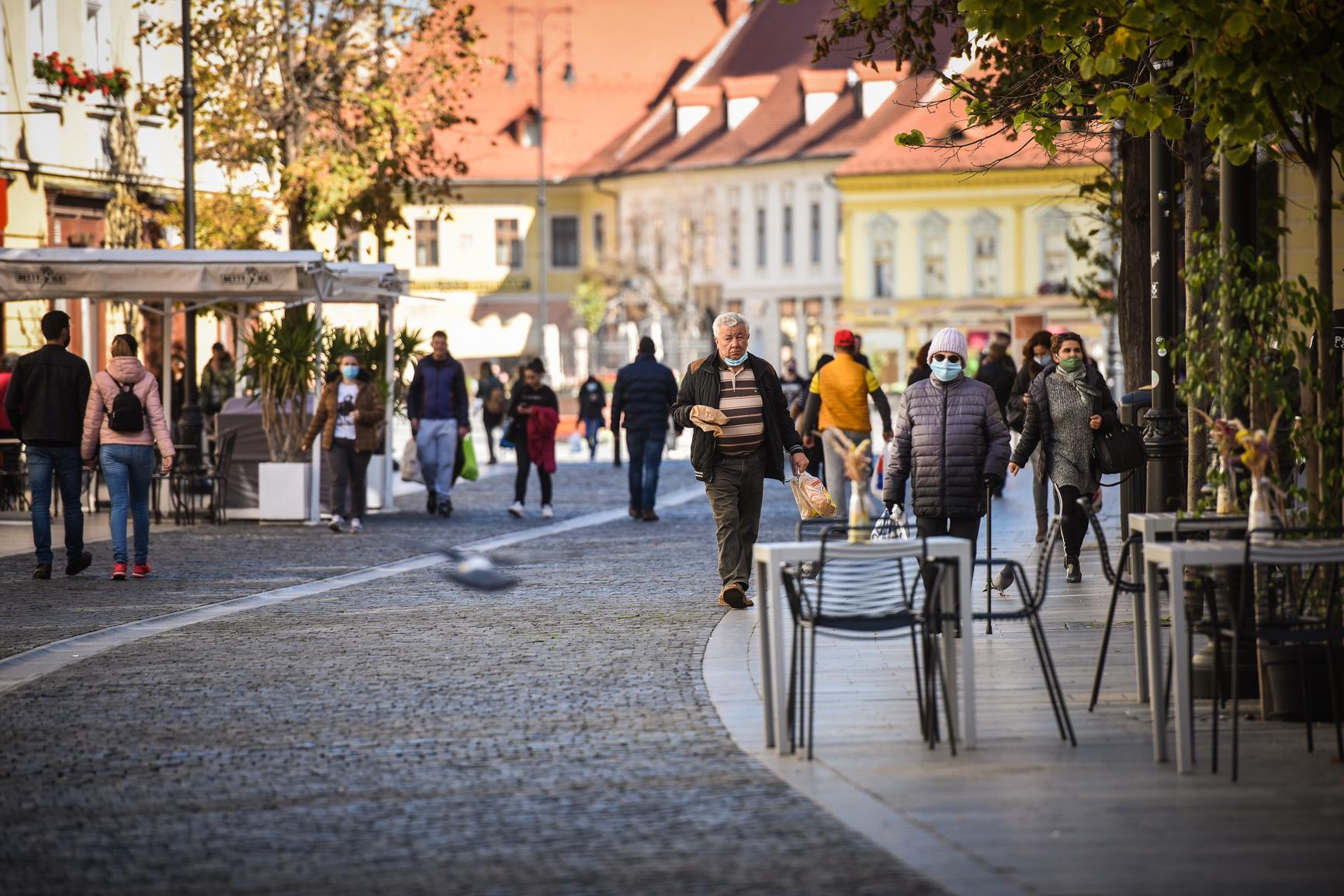 4.54, rata de infectare în municipiul Sibiu. Incidența în localitățile județului