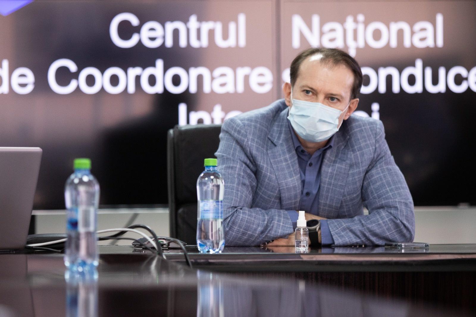 Premierul Florin Cîţu - ministru interimar al Sănătăţii