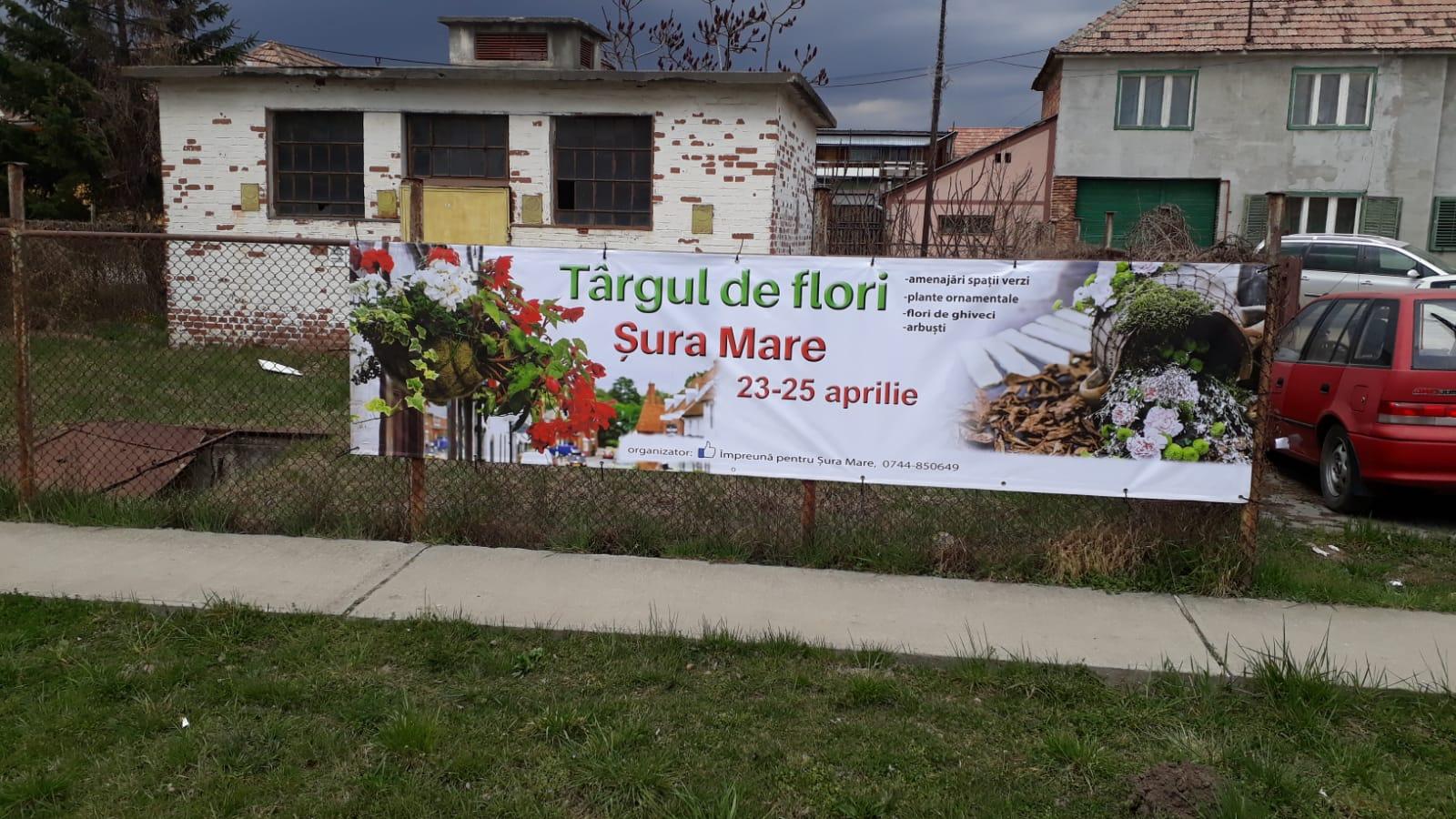 Târg de flori la Șura Mare în luna aprilie. Accesul vizitatorilor este gratuit