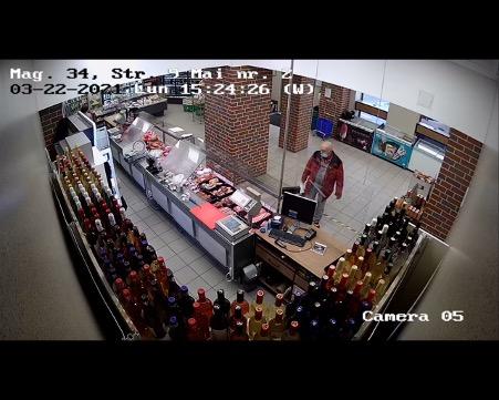 FOTO-Bărbat acuzat că a furat un telefon mobil, într-un magazin Transagape. Dacă îl recunoașteți, anunțați Poliția!